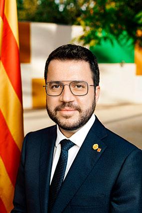 M. Hble. Sr. Pere Aragonès, President de la Generalitat de Catalunya i president del Patronat de Biocat